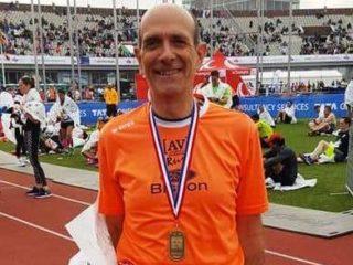 Giorgio Menegazzo appena dopo l'arrivo della Maratona di Amsterdam 3