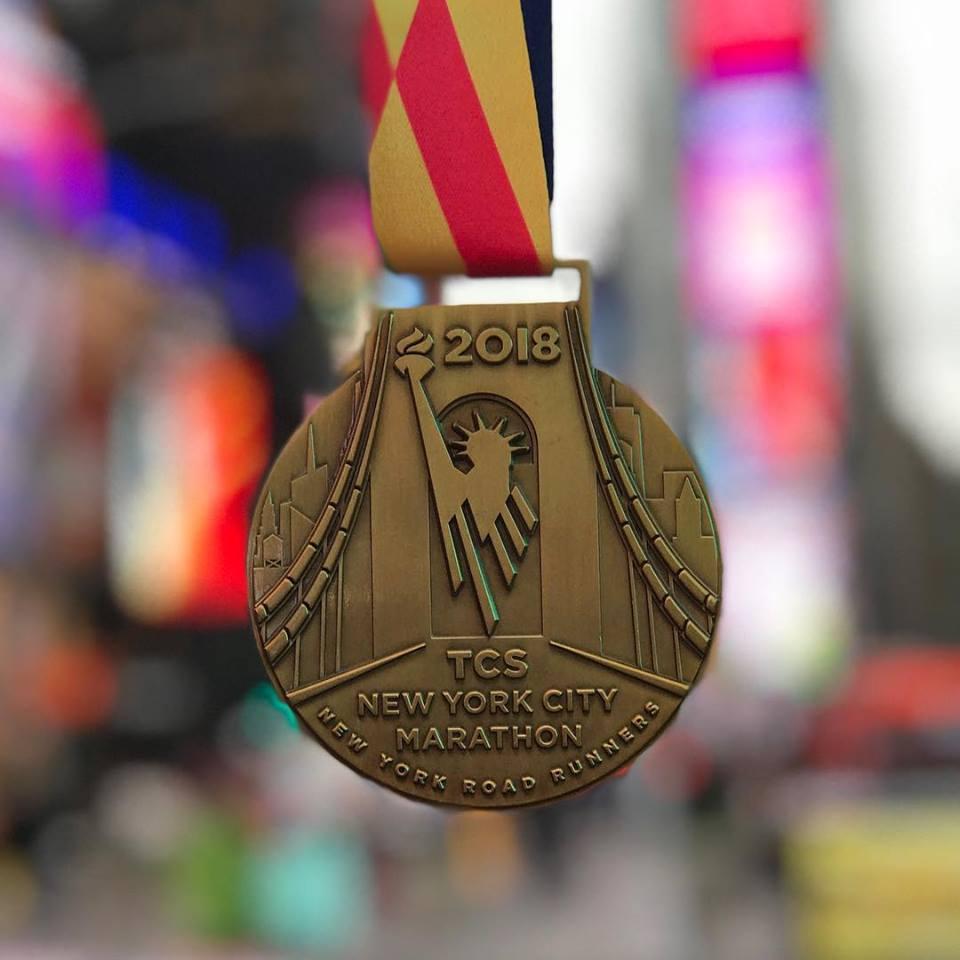 La medaglia della New York City Marathon