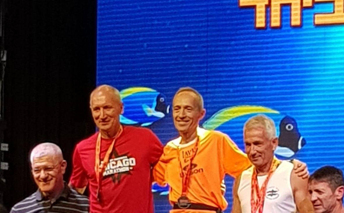 Arzenton sul podio di categoria della Eilat Desert Marathon