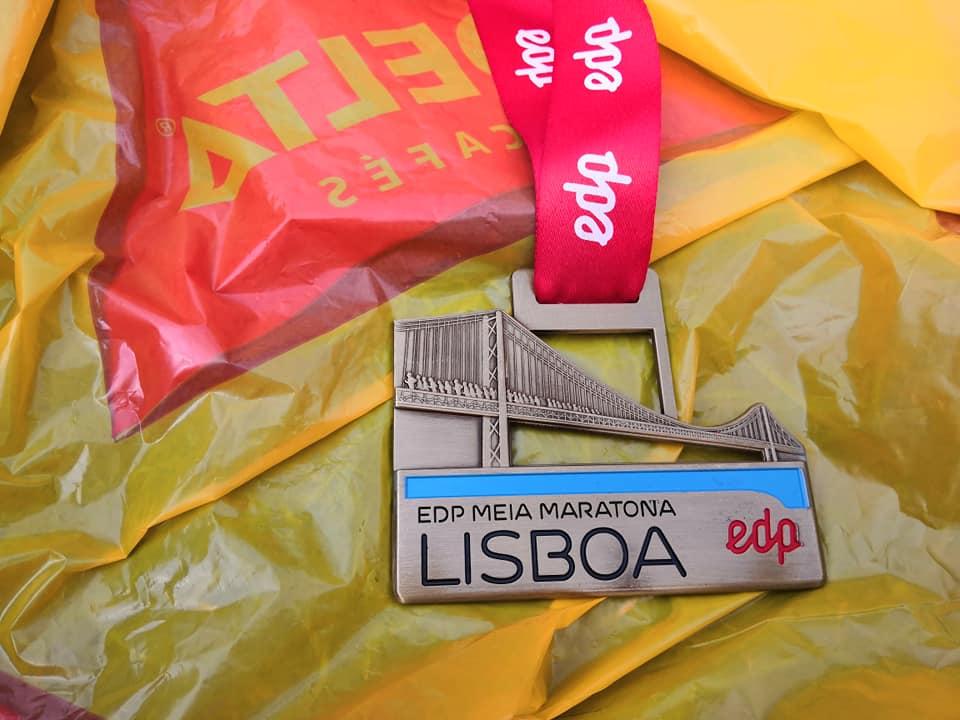 La medaglia della Mezza Maratona di Lisbona
