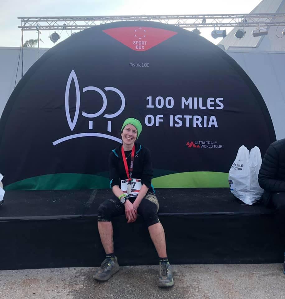 Federica Menti al termine della 100 miglia dell'Istria