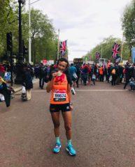 Sandra Ferraro al termine della Maratona di Londra