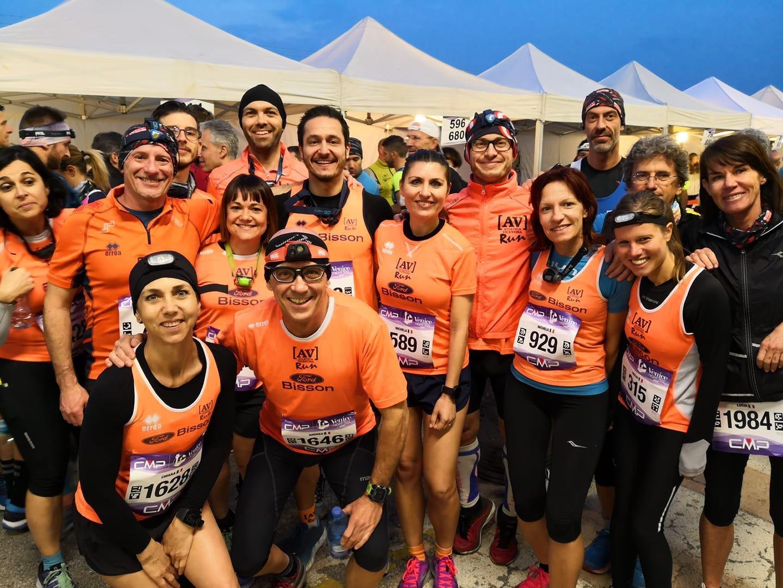 Un gruppo di AV Run prima della partenza del Venice Night Trail