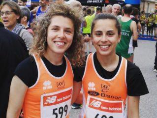 Chiara ed Alessandra nella gara di Thiene