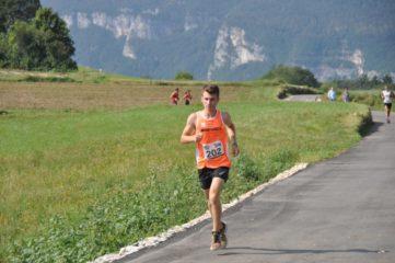 Il 16enne Gabriele Bagattin in azione durante la gara