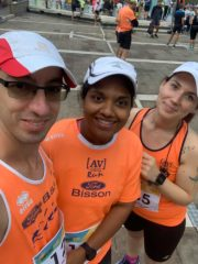 Elia, Vindya e Lisa nel pre gara