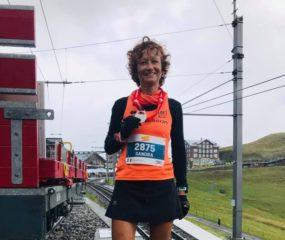 Sandra al termine della Jungrau Marathon - Copia