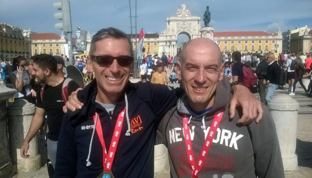Enrico e Silvio al termine della maratona