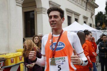 Foto Furlani subito dopo aver vinto la StrAVicenza21